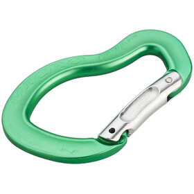 AustriAlpin Micro Bent Snapgate Carabiner green anodized